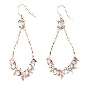 Alexis Bittar Pave Spike Crystal Drop Earrings NWT